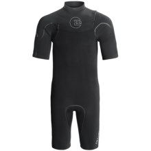 Billabong SGX Shorty Wetsuit - 2mm, Chest Zip, Short Sleeve (For Men) in Black - Closeouts