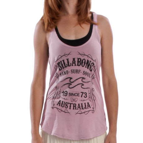 Billabong She Said So Tank Top - Relaxed Fit (For Women) in Ash Rose