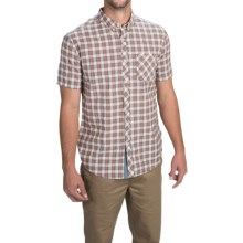 Billabong Sheldon Shirt - Button Front, Short Sleeve (For Men) in Ghost - Closeouts