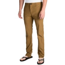 Billabong Slackers Slim Chino Pants (For Men) in Dark Camel - Closeouts