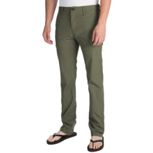 Billabong Slackers Slim Chino Pants (For Men) in Dark Military - Closeouts