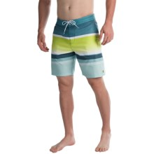 Billabong Spinner Lo Tides Striped Boardshorts (For Men) in Lime - Closeouts