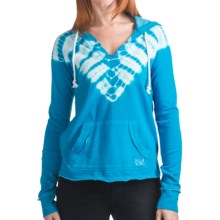 Billabong Spring Heat Pullover Hoodie Sweatshirt - V-Neck (For Women) in Costa Blue - Closeouts