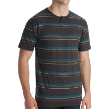 Billabong Station Henley T-Shirt - Short Sleeve (For Men) in Black - Closeouts