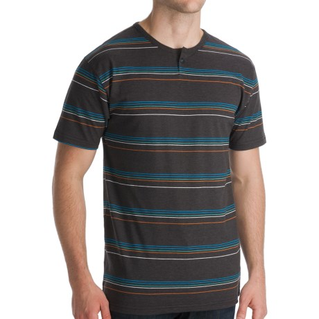 Billabong Station Henley T-Shirt - Short Sleeve (For Men) in Black