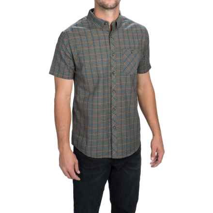Billabong Steady Shirt - Button Front, Short Sleeve (For Men) in Asphalt - Closeouts