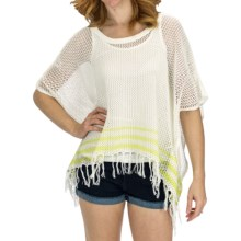 Billabong Sun Drenched Poncho Sweater (For Women) in Cool Wip - Closeouts