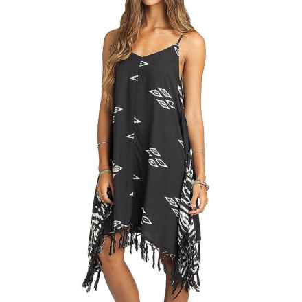 Billabong Sunlit Summer Dress - Spaghetti Straps (For Women) in Off Black - Closeouts