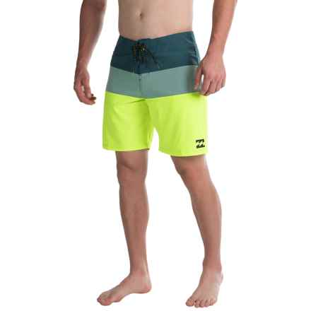Billabong Tribong X Boardshorts (For Men) in Lime - Closeouts