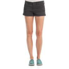 Billabong Ziron Twill Shorts - Stretch Cotton (For Women) in Charcoal - Closeouts