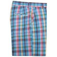 Bills Khaki Bermuda Plaid Parker Shorts (For Men) in Lagoon - Closeouts