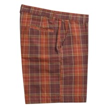 Bills Khakis Ancient Madras Shorts - Flat Front (For Men) in Red - Closeouts