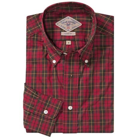 Bills Khakis Ancient Tartan Shirt - Long Sleeve (For Men) in Deep Red