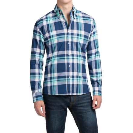 Bills Khakis Button-Front Shirt - Long Sleeve (For Men) in Navy Plaid - Closeouts