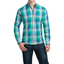 Bills Khakis Button-Front Shirt - Long Sleeve (For Men) in Teal - Closeouts