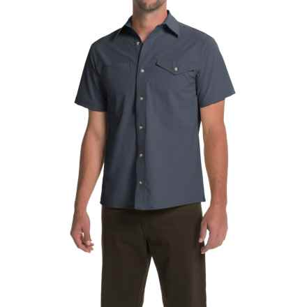 Bills Khakis Camp Shirt - Button Front, Short Sleeve (For Men) in Slate Blue - Closeouts