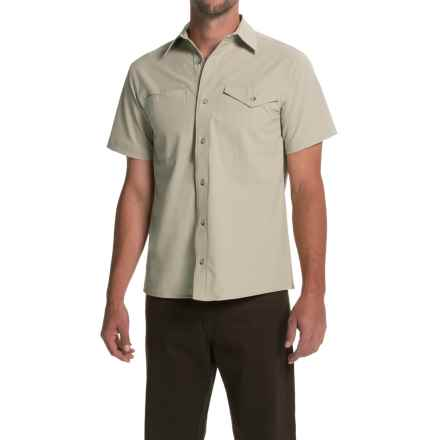 Bills Khakis Camp Shirt - Button Front, Short Sleeve (For Men) in Stone - Closeouts