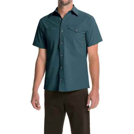 Bills Khakis Camp Shirt - Button Front, Short Sleeve (For Men) in Teal - Closeouts