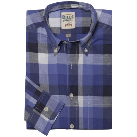 Bills Khakis Chambray Plaid Shirt - Long Sleeve (For Men) in Blue Check