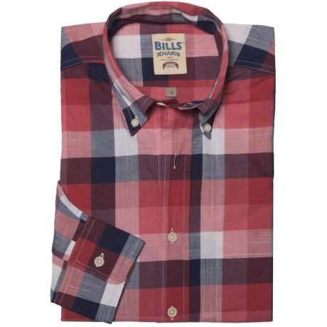 Bills Khakis Chambray Plaid Shirt - Long Sleeve (For Men) in Red Check
