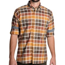 Bills Khakis Check Shirt - Long Sleeve (For Men) in Brown/Gold/Orange - Closeouts