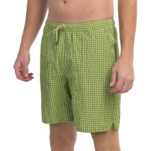 Bills Khakis Checkered Swim Trunks (For Men) in Lemon/Lime Check - Closeouts