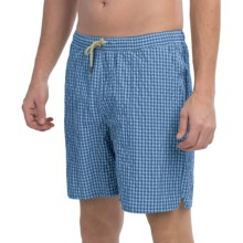 Bills Khakis Checkered Swim Trunks (For Men) in Powder Blue Check - Closeouts
