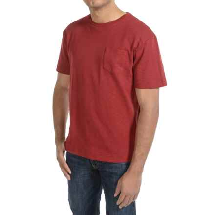 Bills Khakis Cotton Slub T-Shirt - Short Sleeve (For Men) in Red - Closeouts