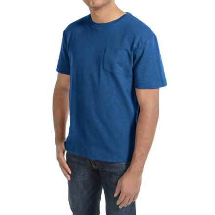 Bills Khakis Cotton Slub T-Shirt - Short Sleeve (For Men) in Royal Blue - Closeouts