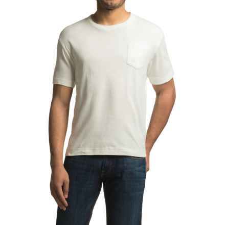 Bills Khakis Cotton Slub T-Shirt - Short Sleeve (For Men) in White - Closeouts