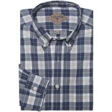 Bills Khakis Davidson Plaid Shirt - Long Sleeve (For Men) in Navy - Closeouts