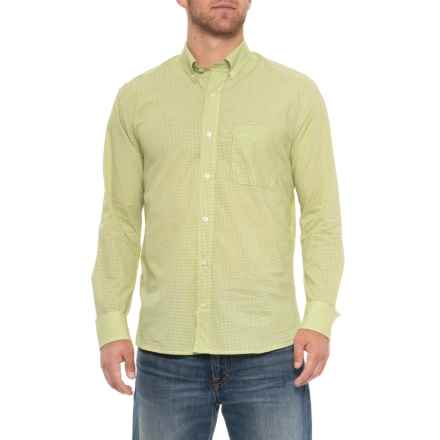 Bills Khakis Game Day Gingham Shirt - Long Sleeve (For Men) in Kiwi - Overstock
