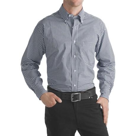 Bills Khakis Gingham Check Sport Shirt - Long Sleeve (For Men) in Navy