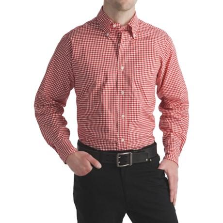 Bills Khakis Gingham Check Sport Shirt - Long Sleeve (For Men) in Red