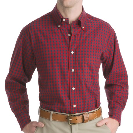 Bills Khakis Independence Twill Shirt - Long Sleeve (For Men) in Red