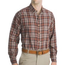 Bills Khakis Logan Plaid Shirt - Long Sleeve (For Men) in Brown - Closeouts