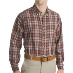 Bills Khakis Logan Plaid Shirt - Long Sleeve (For Men) in Brown
