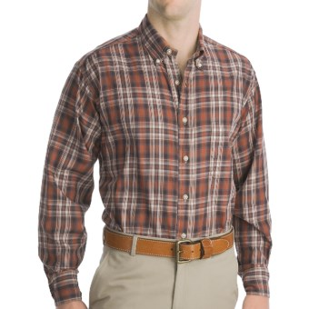 Bills Khakis Logan Plaid Shirt - Long Sleeve (For Men) in Brown
