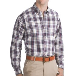 Bills Khakis Logan Plaid Shirt - Long Sleeve (For Men) in Maize