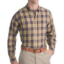 Bills Khakis Logan Plaid Shirt - Long Sleeve (For Men) in Maize - Closeouts