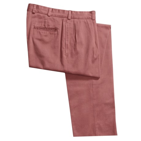 Bills Khakis M1 Vintage Cotton Twill Pants - Pleats (For Men) in Weathered Red
