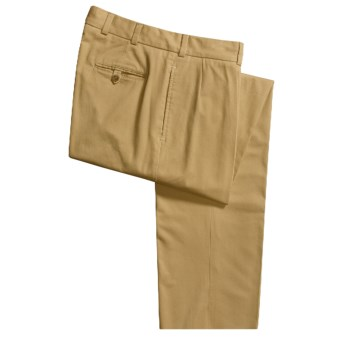 Bills Khakis M1P Driving Twill Pants - Forward Pleats, Relaxed Fit (For Men) in British Khaki