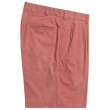 Bills Khakis M1P Pleated Shorts - Cotton Poplin (For Men) in Weathered Red - Closeouts