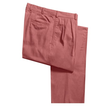 Bills Khakis M1P Poplin Pants - Forward Pleats, Relaxed Fit (For Men) in Weathered Red