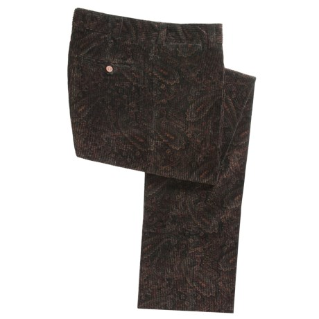 Bills Khakis M2 Alternative Corduroy Pants - Flat Front (For Men) in Paisley
