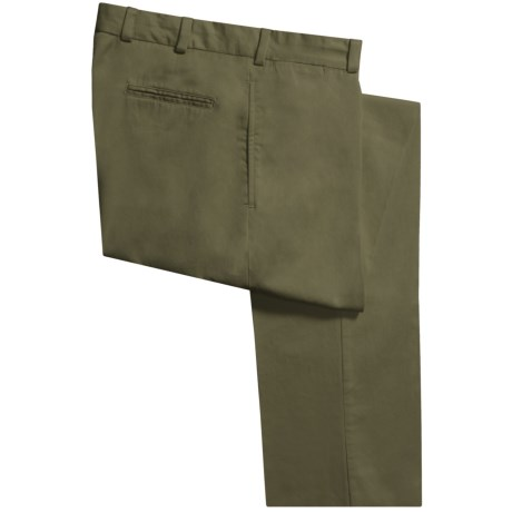 Bills Khakis M2 Chamois Cloth Pants - Flat Front (For Men) in Olive