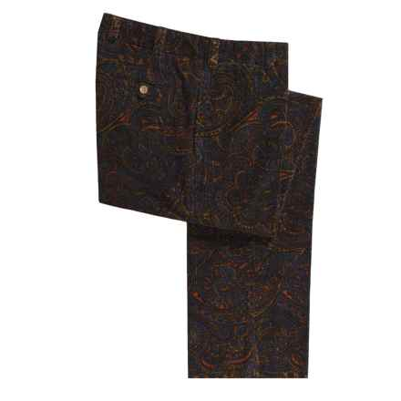 Bills Khakis M2 Cotton Corduroy Pants - Paisley Patterned, Flat Front (For Men) in Dark Paisley - Closeouts
