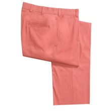 Bills Khakis M2 Cotton Poplin Pants - Flat Front (For Men) in Coral - Closeouts