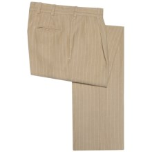 Bills Khakis M2 Pinstripe Pants - Linen-Cotton, Pleated (For Men) in Khaki - Closeouts