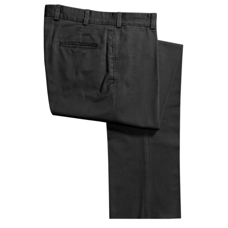 Bills Khakis M2 Vintage Cotton Twill Pants - Flat Front (For Men) in Black